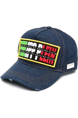 Philipp Plein Logo-patch denim cap