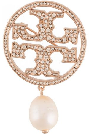 Tory Burch Pearl-detailed stud-embellished pin