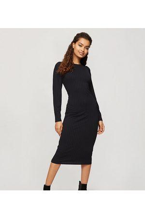 Miss Selfridge Ribbed midi dress in