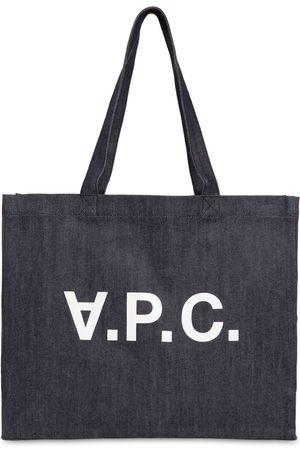 A.P.C. Tote Aus Baumwolldenim Mit Logodruck