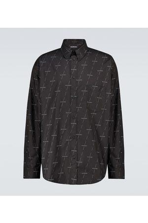 Balenciaga Bedrucktes Hemd aus Baumwolle