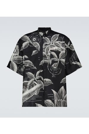 Givenchy Bedrucktes Kurzarmhemd aus Seide
