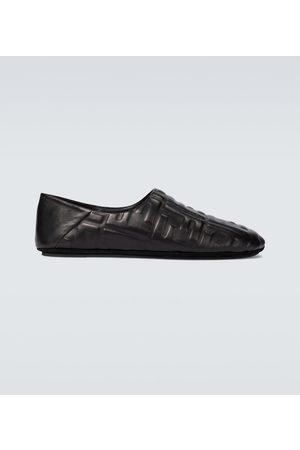 Fendi Geprägte Slippers FF aus Leder
