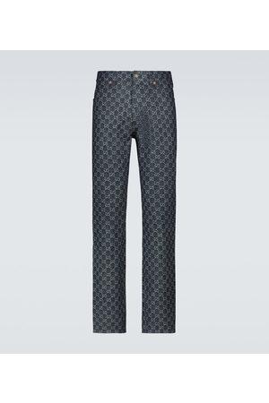 Gucci Straight Jeans GG Jacquard