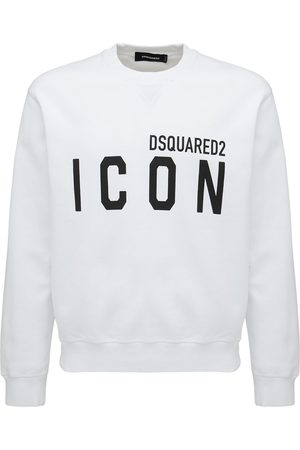 Dsquared2 Herren Sweatshirts - Sweatshirt Aus Baumwolljersey Mit Logodruck