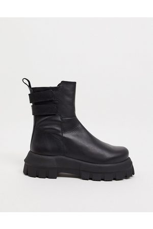 ASOS Arizona premium leather chunky boots in