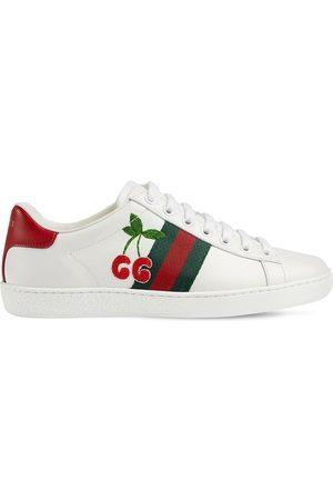 "Gucci Damen Sneakers - 20mm Hohe Ledersneakers ""ace"""