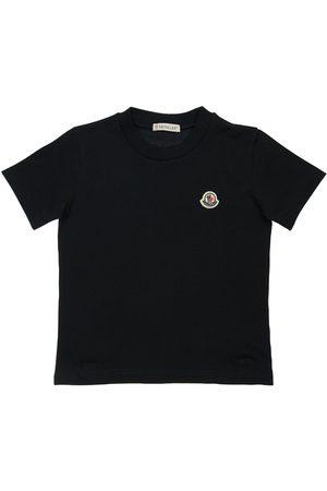 Moncler Damen Shirts - T-shirt Aus Baumwolljersey