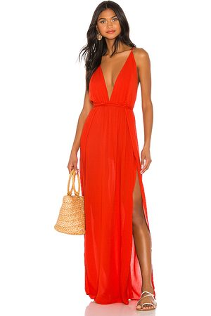 Indah River Maxi Dress in - Red. Size M/L (also in S/M).