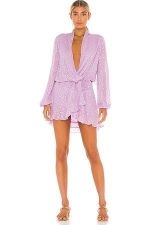 ROCOCO SAND X REVOLVE Lurex Dress in - Lavender. Size L (also in S).