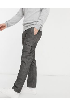 Burton Smart check trousers with cargo pockets in