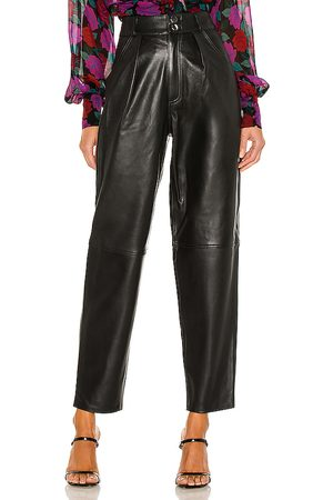 L'Academie Rhye Barrel Leg Leather Pant in - . Size L (also in M, S, XL, XS, XXS).