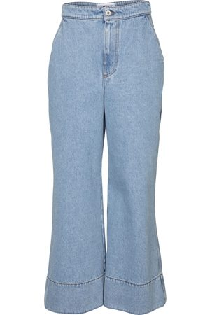 Loewe High-Rise Cropped Jeans