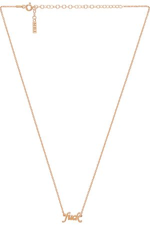 Natalie B Jewelry Fuck Necklace in - Metallic . Size all.