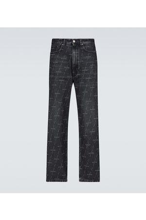Balenciaga Bedruckte Straight Jeans