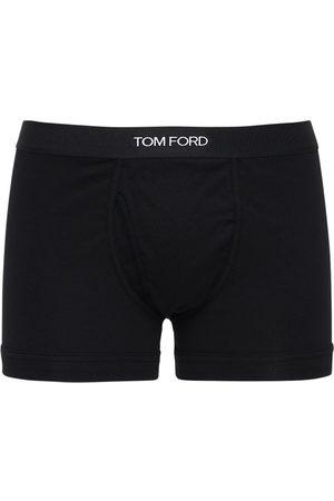 Tom Ford Herren Boxershorts - Set: 2 Boxer Aus Baumwolle Mit Logo