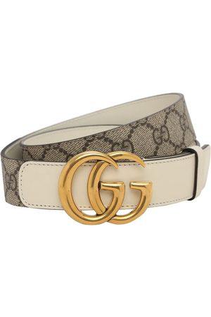 "Gucci 3cm Breiter Ledergürtel ""gg Supreme Marmont"""
