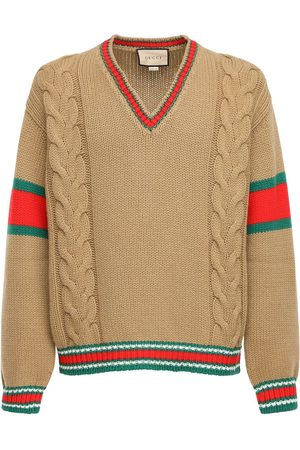 Gucci Pullover Aus Wolle Mit Zopfmuster