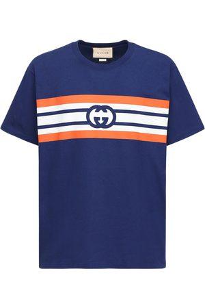 Gucci Gg-bedrucktes T-shirt Aus Baumwolle
