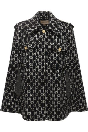 Gucci Damen Ponchos & Capes - Cape Aus Wolljacquard