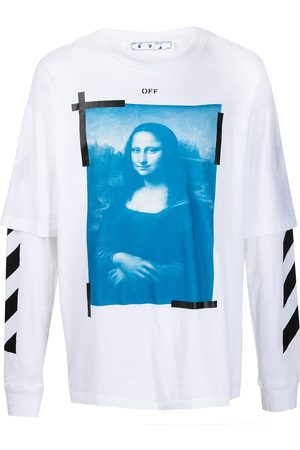 OFF-WHITE Mona Lisa graphic-print long-sleeve T-shirt