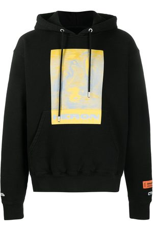 Heron Preston HOODIE HERONS LITHO YELLOW