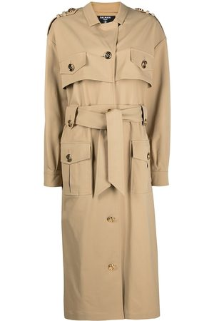 Balmain Embossed-buttons trench coat