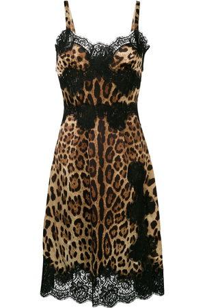 Dolce & Gabbana Leopard print flared midi dress