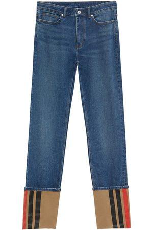 Burberry Turn-up straight-leg jeans
