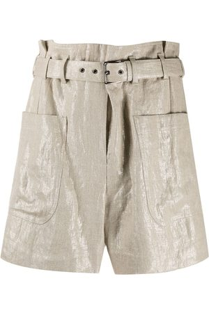 Brunello Cucinelli Belted high-rise shorts