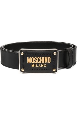 Moschino Enamelled buckle belt