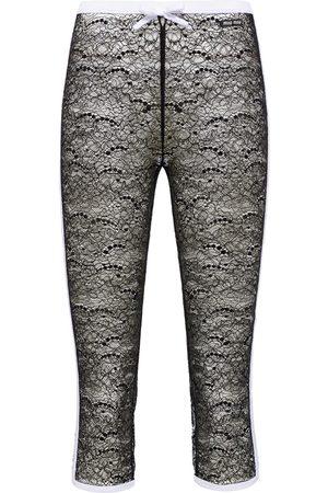 Miu Miu Lace-embroidered cropped leggigns