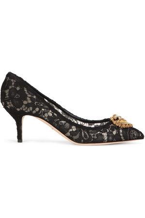 Dolce & Gabbana Embellished lace pumps