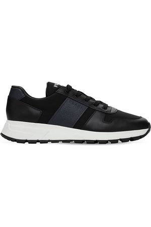 Prada Sneakers Aus Saffianoleder Und Nylon