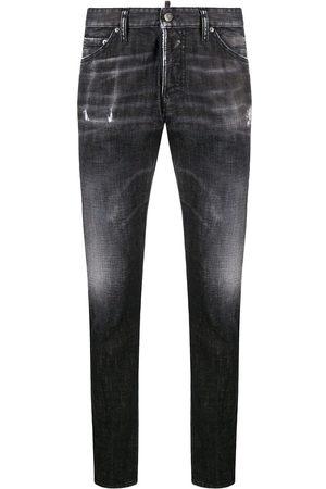 Dsquared2 Whiskered slim jeans