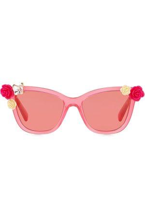 Dolce & Gabbana Mädchen Sonnenbrillen - Blooming rectangular-frame sunglasses