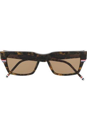 Thom Browne Sonnenbrillen - Wrap-around rectangle sunglasses