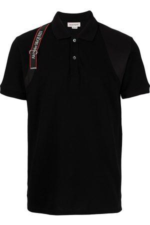 Alexander McQueen Herren Poloshirts - Logo tape polo shirt
