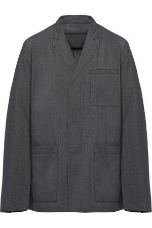 Prada Single-breasted patch pocket jacket