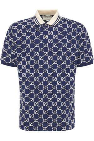 Gucci Poloshirt Aus Stretch-baumwolljacquard