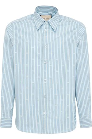 Gucci Baumwollhemd Aus Filcoupé Mit Streifendruck