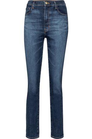 J Brand High-Rise Slim Jeans Tegan