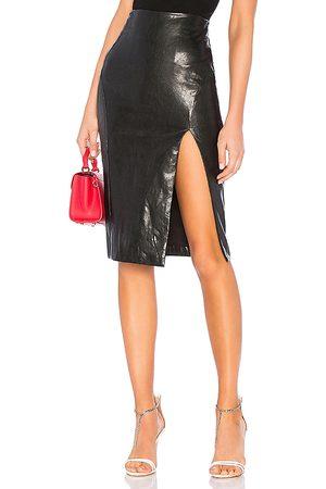 superdown Jezabel Faux Leather Midi Skirt in - . Size S (also in XS, XXS).