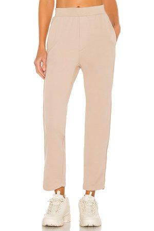 NSF Clarence Relaxed Track Pant in - Beige. Size L (also in M, S, XS).
