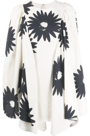 Stella McCartney Damen Freizeitkleider - Floral print bell sleeves dress