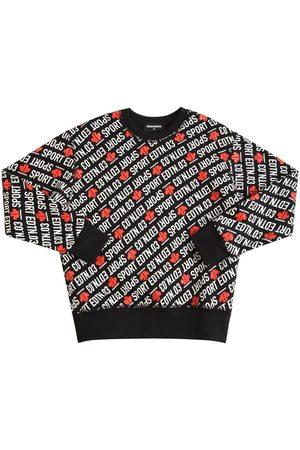 Dsquared2 Bedrucktes Sweatshirt Aus Baumwollmischung