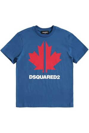 Dsquared2 Bedrucktes T-shirt Aus Baumwolljersey