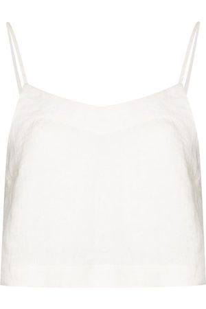 Bondi Born Damen Tanktops - Flared linen camisole top