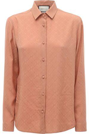 Gucci Bedrucktes Hemd Aus Seidenkrepp