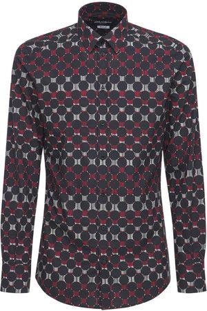 Dolce & Gabbana Bedrucktes Hemd Aus Stretch-baumwolle
